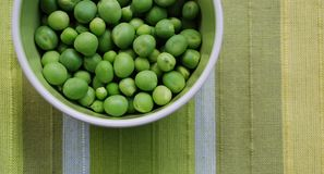 Peas in a bowl royalty free stock image