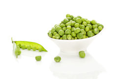 Peas in bowl. Stock Image
