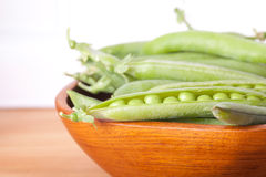 Peas in the bowl Royalty Free Stock Photo