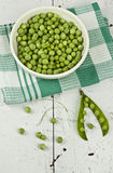 Peas in bowl Royalty Free Stock Images