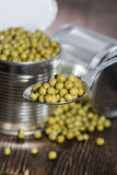 Peas in a Can Royalty Free Stock Photo