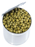 Peas in a Can (on white) Royalty Free Stock Image