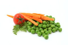 Peas and carrot stock photo