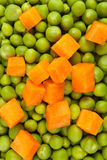 Peas and carrot mix Stock Image