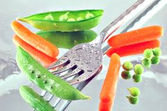 Peas & Carrots Stock Image