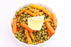 Peas and carrots Royalty Free Stock Photos