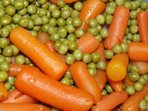 Peas and carrots Royalty Free Stock Images
