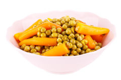 Peas and carrots Royalty Free Stock Photography