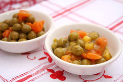 Peas, Carrots and corn Royalty Free Stock Photos