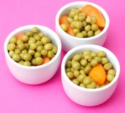 Peas and carrots Royalty Free Stock Image
