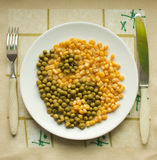 Peas and corn Stock Photo