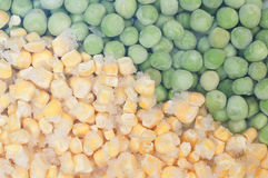 Peas and corn background Stock Photography