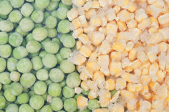 Peas and corn background Royalty Free Stock Photos