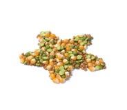 Peas, corn and buckwheat Royalty Free Stock Photography