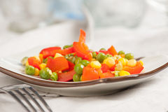 Peas, Corn and Pepper Royalty Free Stock Photos