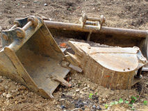 Peças da máquina escavadora Fotografia de Stock Royalty Free