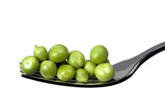 Peas on a Fork Stock Photo