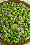 Peas with ham Royalty Free Stock Image