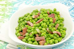 Peas with ham Stock Photo