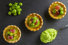 Peas with ham tapa Royalty Free Stock Photography