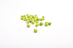 Peas isolated on White Royalty Free Stock Images