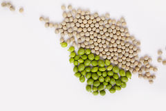 Peas isolated on White Royalty Free Stock Photo