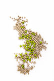 Peas isolated on White Royalty Free Stock Photos