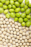 Peas isolated on White Stock Photography