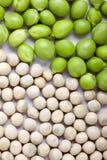 Peas isolated on White Stock Photo
