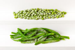 Peas and kidney bean Royalty Free Stock Image