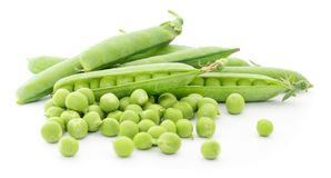 Peas with leaves. Stock Photography