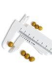Peas measuring Stock Image