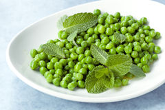 Peas with Mint Stock Images