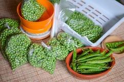 Peas packing Stock Image