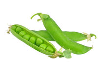 Peas in the peapods Stock Photos