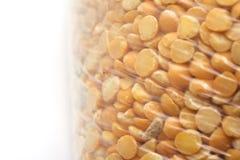Peas in a plastic bag Stock Image