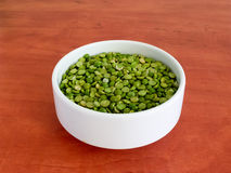 Peas in plate Stock Photography
