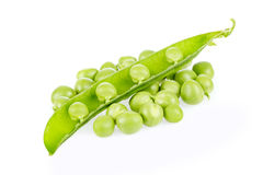Peas with pod Royalty Free Stock Photos