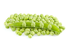 Peas with pod Royalty Free Stock Images