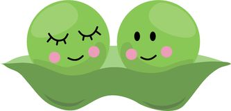 Peas In Pod Royalty Free Stock Photos