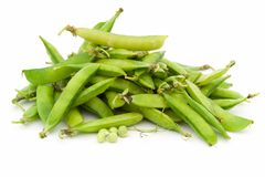 Peas pods Royalty Free Stock Image