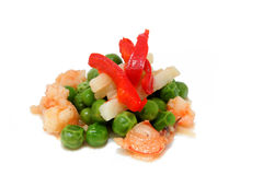 Peas and prawns 2 Stock Image