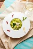 Peas risotto Stock Image