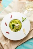 Peas risotto Royalty Free Stock Image