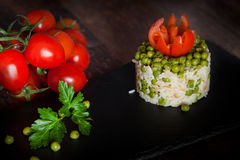 Peas Risotto Royalty Free Stock Images