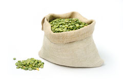 Peas in a sack Stock Photography