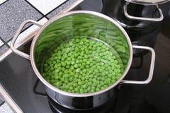 Peas In A Saucepan II Stock Photo