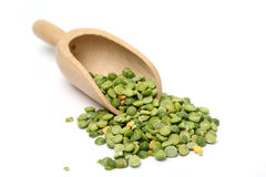 Peas in a scoop Royalty Free Stock Image