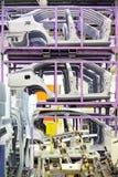 Peças sobresselentes em uma fábrica do carro Foto de Stock