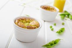 Peas souffle Stock Photo